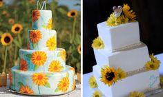 Wedding Cake Mondays: Sunflower Wedding Cakes - My Inspired Wedding by WedAlert Network