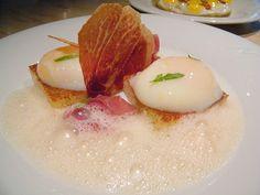 "Eggs Benedict ""New Way"", Iberico Ham by Chef Jose Andres"