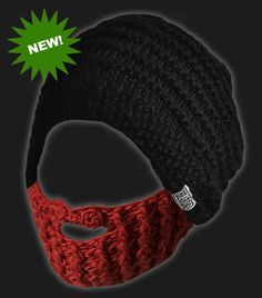 I do like my men bearded :o) a beanie with a beard attached. Fackin Awesome!