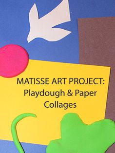 Kids will enjoy learning about Matisse through this colorful play dough and cut paper art lesson.