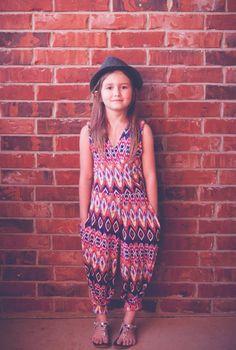 Girl Sewing Pattern Jumpsuit Capsule Wardrobe PDF Pattern