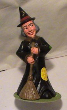 "10"" INO SCHALLER-Large Witch w/Broom Candybox- BAVARIA"