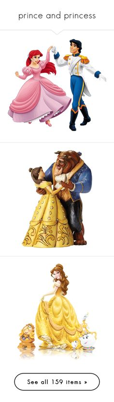 """""""prince and princess"""" by smile2528 ❤ liked on Polyvore featuring disney, ariel, disney princesses, beauty and the beast, backgrounds, belle, cartoons, fillers, home and home decor"""