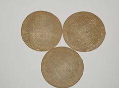 3x  10cm diameter sinamay fascinator base - Natural