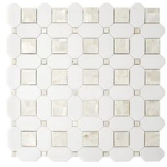 Thassos Mother of Pearl Basket weave Marble Mosaic - 12 x 12 - 100569128 Stone Tile Flooring, Stone Tiles, Stone Mosaic, Wood Flooring, Marble Mosaic, Mosaic Tiles, Wall Tiles, Mosaic Bathroom, Mother Of Pearl Backsplash