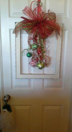 #christmas #frame #wreath #shabby #chic #decorating #fabulous