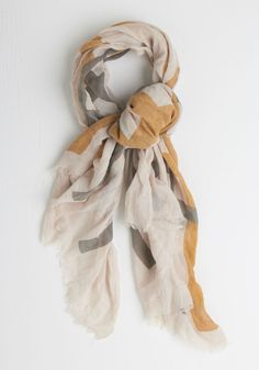 Simplest Statement Scarf. Add an effortlessly chic finishing touch to your look by layering on this checkered scarf! #tan #modcloth