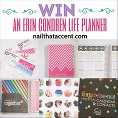 Nail That Accent: Erin Condren Life Planner Review & Giveaway #eclifeplanner #ecbloggers #giveaway #fabfans