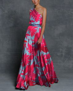 Vacation Sexy One Shoulder Print Maxi Dress – Dressisi Cheap Maxi Dresses, Summer Dresses, Vacation Dresses, Chiffon Dresses, Women's Dresses, Fall Dresses, Long Dresses, Party Dresses, Dresses Online