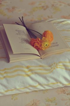 Books .and flowers