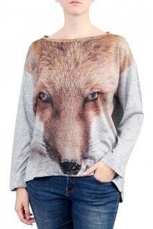 Comprar blusa-quadrada-feminina-inverno-estampa-raposa-usenatureza