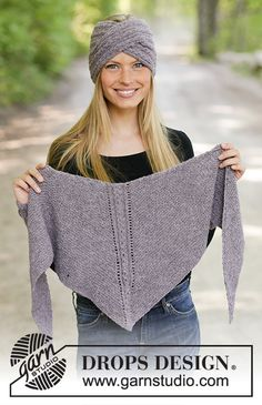 The winter way / DROPS – free knitting patterns by DROPS design – Scarf Ideas 2020 Poncho Crochet, Knitted Headband Free Pattern, Knitted Shawls, Knitting Blogs, Knitting For Kids, Lace Knitting, Drops Design, Shawl Patterns, Knitting Patterns Free