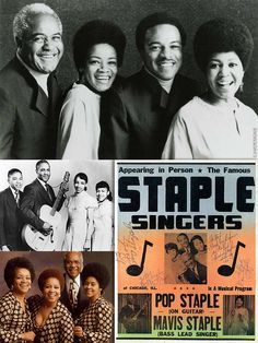 """Roebuck """"Pops"""" Staples (Dec. 28, 1914 – Dec. 19, 2000) was an American gospel and R&B musician. A pivotal figure in gospel in the 1960s & 70s, he was a songwriter, guitarist & singer. He was the patriarch and member of The Staple Singers, which included his son Pervis and daughters Mavis, Yvonne, and Cleotha. In 1998 he received a National Heritage Fellowship from the National Endowment for the Arts, and in 1999 the Staple Singers were inducted into the Rock & Roll Hall of Fame."""