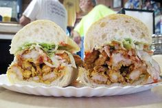 The Best Foods to Eat in New Orleans- Fried Shrimp Po-Boy at Domilise's Shrimp Po Boy, Fried Shrimp, Best Sandwich, Sandwich Ideas, Louisiana Recipes, Good Foods To Eat, Serious Eats, Wrap Sandwiches, New Orleans