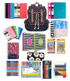 """School supplies haul"" by megzetta ❤ liked on Polyvore"