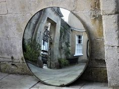 95cm Diameter Convex Mirror - This contemporary thin metal framed mirror can also be fitted with vintage glass which gives it an authentic period feel. Black iron,brass,copper,stainless steel [either brushed or polished] frames available. Convex Mirror, Round Wall Mirror, Hidden Tv, Traditional Mirrors, Get Directions, Home Accessories, Oversized Mirror, Bath