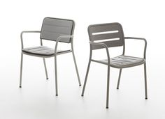 Jasper Morrison - Village chair 2013  Lightweight aluminium stacking chair.  Produced by Kettal, Spain.  Photo: Miro Zagnoli