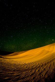 Sand dunes at night, Erg Awbari, Sahara desert, Fezzan, Libya, North Africa, Africa by Sergio Pitamitz
