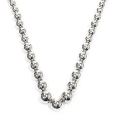 Tiffany & Co. Sterling Silver Graduated Beaded Necklace - $199.99