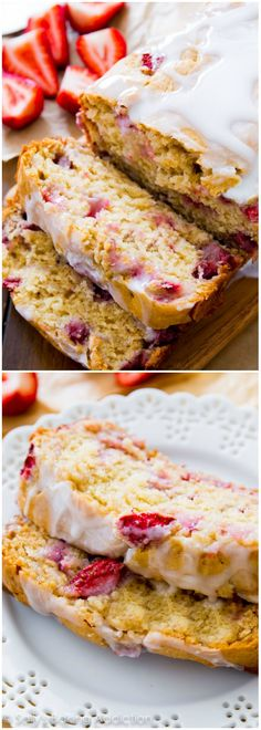 Super moist strawberry quick bread is mixed together in a snap. Drizzle it with a sweet vanilla glaze and get ready to indulge!
