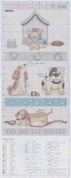 dachshund on bottom | Portale Punto croce: Appassionato di cani