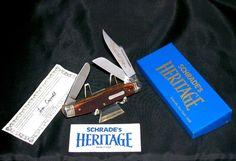 Schrade 8801 Heritage Knife 1986 USA Made Bone Stag Stockman W/Packaging,Papers @ ditwtexas.webstoreplace.com