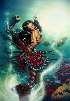 I love all fantasy and mythical stuff, but my favorite ones are mermaids.So this is a collection of mermaid images I've been picking all over the internet. Magical Creatures, Fantasy Creatures, Sea Creatures, Fantasy Mermaids, Mermaids And Mermen, Real Mermaids, Black Mermaid, The Little Mermaid, Mermaid Pictures