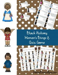 Black History Women's Bingo and Quiz Game: This fun game tests students' knowledge of twelve African American women. Several variations are provided so the game can be adapted for children from preschool through age ten. Learn about Alice Coachman, Bessie Coleman, Althea Gibson, Edna Lewis, Harriet Tubman, Wilma Rudolph, Mary Lou Williams, Phillis Wheatley, Rosa Parks, Sarah E. Goode, Sojourner Truth, and Marian Anderson.  Limited time freebie!