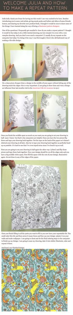 how to create a repeat pattern on paper