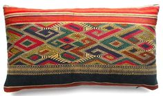 Laotian pillow...love the colors but i priced some similar to this on anthro...ho lee cow pricey