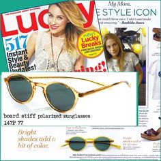 5cd74e6cd489 eyebobs retro-chic Board Stiff polarized sunglasses in the March 2013 issue  of Lucky magazine.