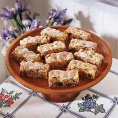 Date Nut Bars Recipe -I've had this recipe since 1938, when the girls I worked with game me a bridal shower. One of their presents was a recipe box filled with their favorites. Inside, I found this recipe, and I've used it for just about every occasion since. They're always well received.