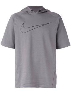 Nike Mens Tennis Shirt - Nike Team Court Crew Laser Orange/Midnight Navy/White/White L60c9862