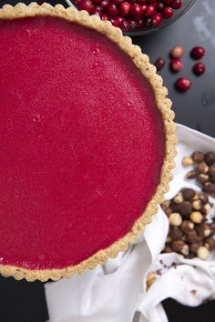 If you are a fan of lemon curd or the classic French tarte au citron, you will love this cranberry version. To minimize kitchen time, make it in stages, preparing the crust and curd a day or two in advance. The finished tart keeps well for a couple of days too. (Photo: Evan Sung for The New York Times)