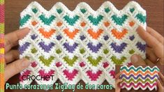 I love the sensible colors of this hearts and their amazing, nearly hypnotic design. It is very simple and great to create baby blankets. In this article, we've brought you very easy tutorial that must be very informative, simple and clear for you. Crochet Afghans, Crochet Heart Blanket, Crochet Hook Set, Crochet Stitches Patterns, Tunisian Crochet, Crochet Yarn, Free Crochet, Knitting Patterns, Crochet Ripple