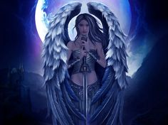 A guardian angel is an angel that is assigned to protect and guide a particular person, group, kingdom, or country. Belief in guardian angels can be traced thro Dark Angels, Angels Among Us, Angels And Demons, Samael Angel, Guerrero Dragon, Dark Fantasy, Fantasy Art, Types Of Angels, Your Guardian Angel