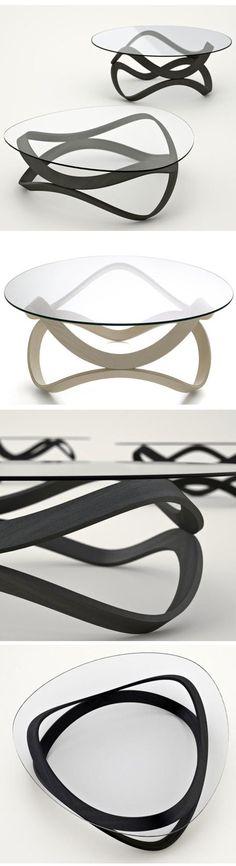 Newton Coffee Table by Dan Sunaga and Staffan Holm: Made of bent laminated wood. #Coffee_Table