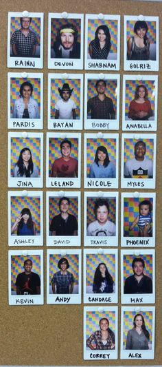 more polaroids of the team!