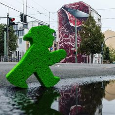 "The ""Flesh Mural"" is another great piece of my series #AmpelmannStreetArt :) Curious about its meaning? Click and find out! #LittleGreenMan #AmpelmannWorld #FollowAmpelmann #ampelmannLifestyle #Berlin"