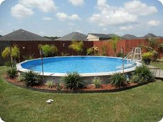 Above Ground Pools Design Nice Above Ground Pool Landscaping Ideas within Above … - Swimming Pool 2020 Oval Above Ground Pools, Above Ground Pool Ladders, Best Above Ground Pool, Above Ground Swimming Pools, In Ground Pools, Pool Landscaping Plants, Above Ground Pool Landscaping, Landscaping Ideas, Decking Ideas