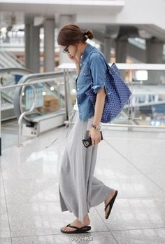 The best chambray shirtdress 18 ~ Litledress Japan Fashion, Love Fashion, Korean Fashion, Womens Fashion, Fashion Models, Daily Fashion, Looks Style, Casual Looks, Skirts