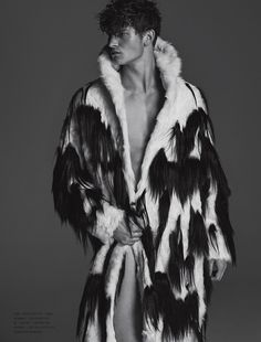 """John Todd in """"野兽"""" (""""Wild Beast"""") by Hong Jang Hyun for the Fall Winter 2014-2015 Issue of Numero Homme China"""
