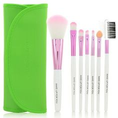 6.32$  Buy now - http://di811.justgood.pw/go.php?t=173765407 - Cosmetic 7 Pcs Germproof Fiber Makeup Brushes Set with PU Leather Brush Bag