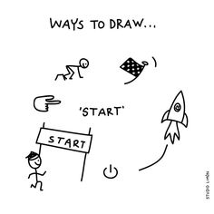 132 vind-ik-leuks, 1 reacties - Studio Limón (@studiolimonillustrations) op Instagram: 'Ready? Set...go! Word of day 28: Start. . . #365waystodraw #start #begin # #illustratie…'