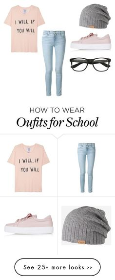 """SCHOOL"" by rex-pallares on Polyvore featuring Frame Denim, Zoe Karssen, Topshop and Barts"