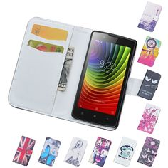 Luxury Wallet PU Leather Case For Lenovo A2010 A 2010 Case Flip Cover Cartoon Painting Phone Bag With Card Holder Stand A2010-A  #Repin by https://www.kensington-bespoke.uk - Bringing the #chic and #style of #Kensington High Street direct to your home.