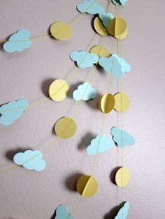 Paper Garland - Sunshine on a Cloudy Day from ArtsDelight  on etsy