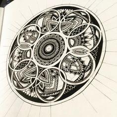 Building up this guy . . . . . #mandala #mandalas #mandalaart #mandaladesign #mandala_sharing #mandalalove #mandalapassion #mandaladrawing #mandaladoodle #mandalaartist #mandaladesigns #doodle #doodles #doodleart #doodlesofinstagram #doodling #drawing #drawings #art #arte #sketchbook #sketchbookart