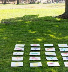 jeux de mémoire pour jouer dehors cet été Games For Kids, Crafts For Kids, Diy, Camping, Education, Outdoor Decor, Wedding, Jouer, Stage