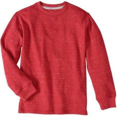 Faded Glory Boys' Long Sleeve Thermal Tee, Red
